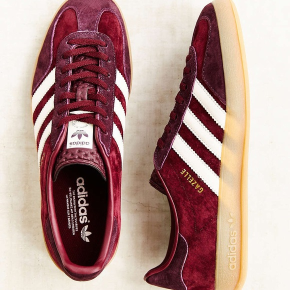 bf30a6574f99b adidas Shoes - Adidas Gazelle Burgundy Gum Sole Sneakers